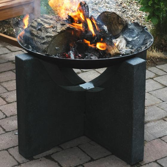 Feuerschale Granato, 46x68x68 cm, grau, schwarz | #2