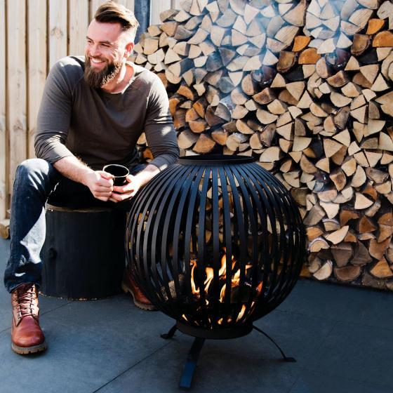 Feuerball Starlight, 74x59x59 cm, Karbonstahl, schwarz | #2