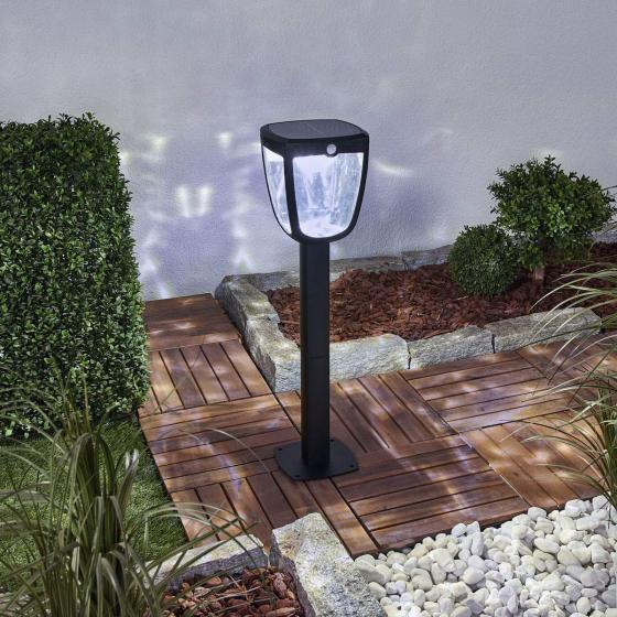 Solar-Wegeleuchte Henk mit Bewegungsmelder, 65,5x18x19 cm, Aluminium, schwarz | #2