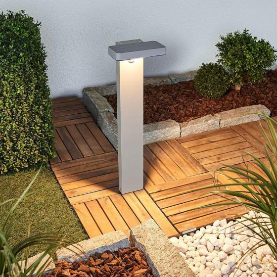 LED-Sockelleuchte Maik mit Bewegungsmelder, 60x18x13 cm, Kunststoff,  grau | #2