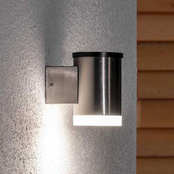 LED-Solar-Außenwandleuchte Tyson, 11,5x8x11,5 cm, Edelstahl, silber | #2