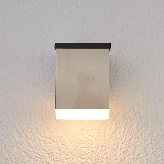 LED-Solar-Außenwandleuchte Tyson, eckig, 11,5x8,4x11,5 cm, Edelstahl, silber | #2