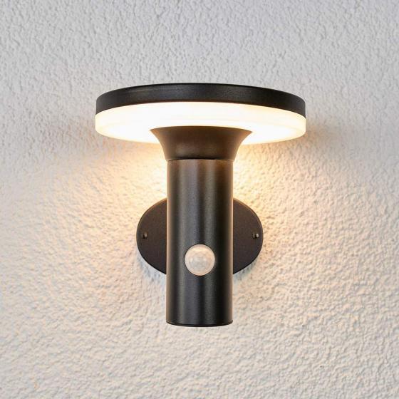 LED-Solar-Wandleuchte Eliano mit Bewegungsmelder, 17x16x17 cm, Edelstahl, schwarz | #2