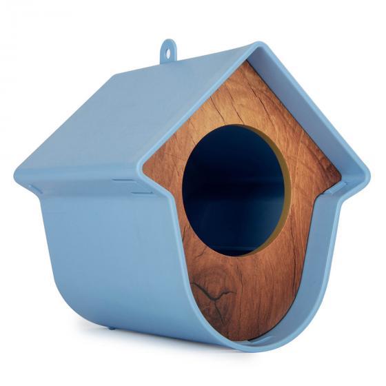 Erdnussbutterglashalter Evie, 13x15x17 cm, Kunststoff, blau   #2