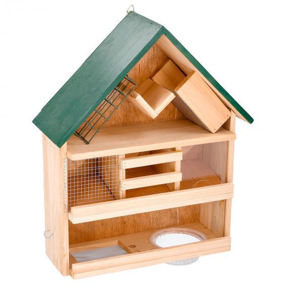 Lifetime 9-in1 Vogelfutterspender, 39x12x44 cm, Holz, braun | #2
