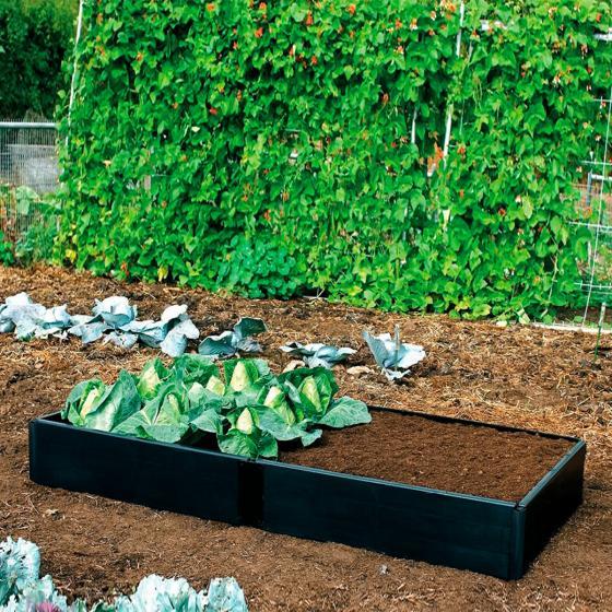 Erweiterungsset  zu  Hochbeet Grow, 2 Paneele 97,5 x 25 cm, schwarz | #2