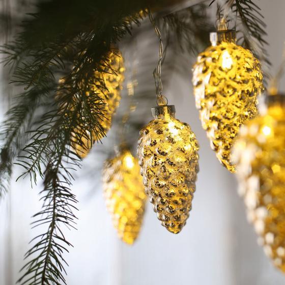 LED-Lichterkette Tannenzapfen, gold | #2