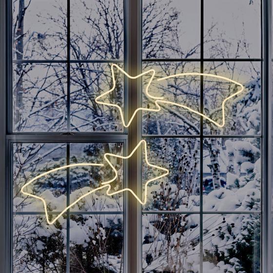 Neon-LED-Komet, 65 x 2 x 27 cm, Metall, weiß   #2