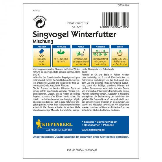 Kiepenkerl Singvogel Winterfuttersamen Mischung | #2