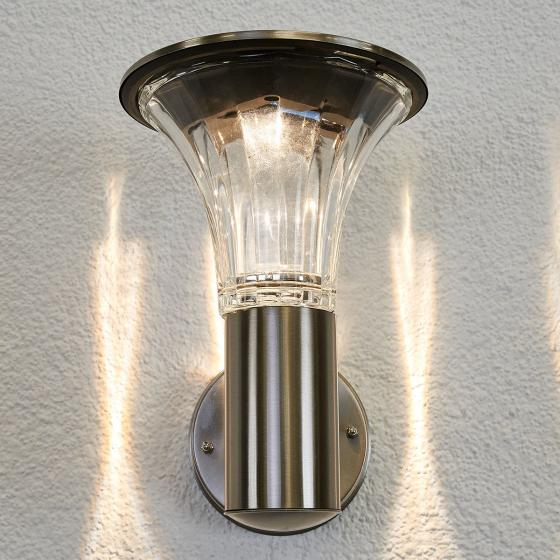 Solar-LED-Außenwandleuchte Eileen, 25x17x23 cm, Edelstahl, silber | #2