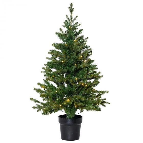 Star Künstlicher LED-Außen-Tannenbaum Byske, 90x55x55 cm, Kunststoff, grün | #2