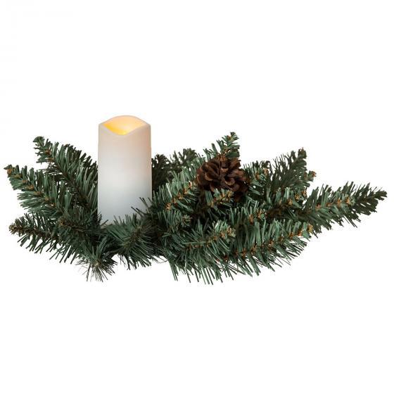 LED-Tannengesteck Serene, 33x33x12 cm, Kunststoff, grün | #2