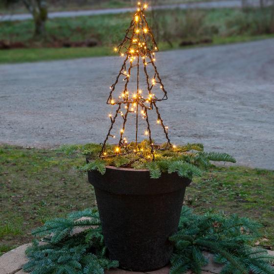 Star LED-Lichterbaum Foldy, 50x30x30 cm, Metall, schwarz | #2