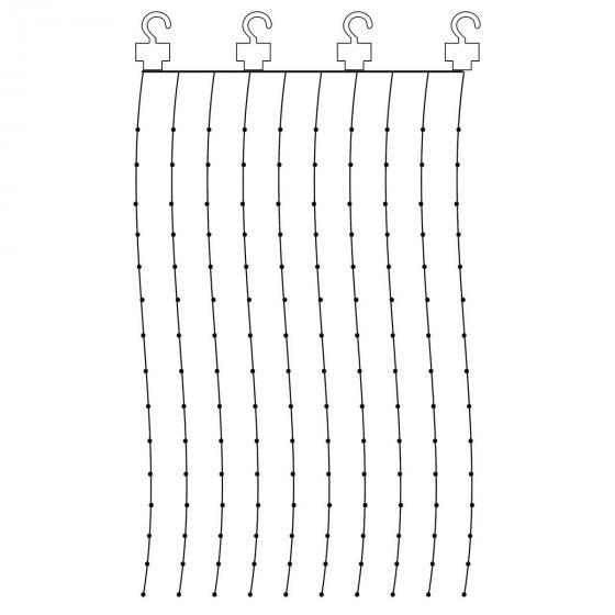 Micro-LED-Vorhang Dew Drops, 200x100 cm, Kunststoff, silber | #2
