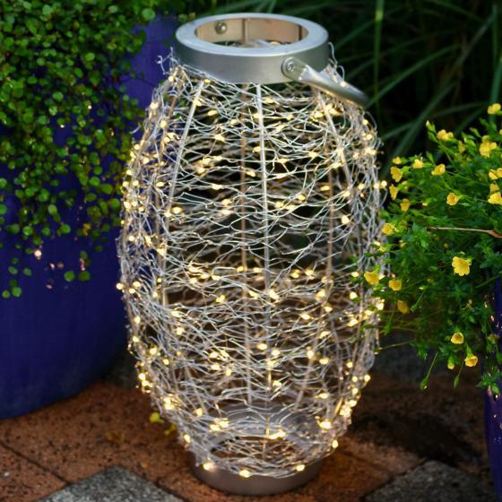 LED-Laterne Sternenhimmel, 25x25x42cm, Edelstahl, silber | #2