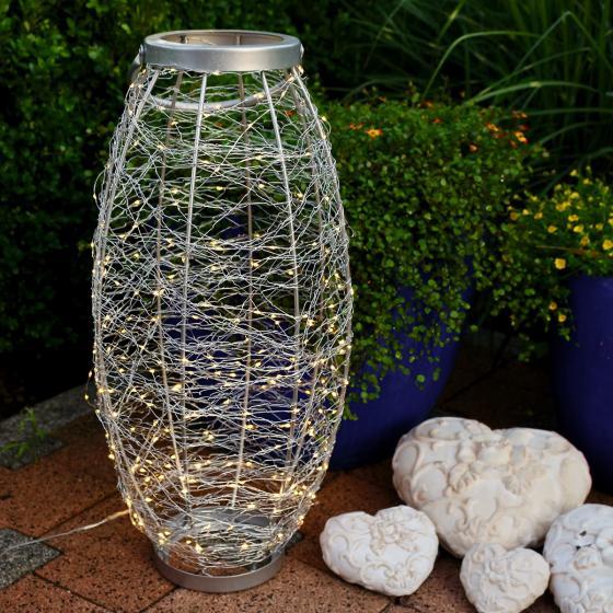 LED-Laterne Sternenhimmel, 30x30x58 cm, Edelstahl, silber | #2