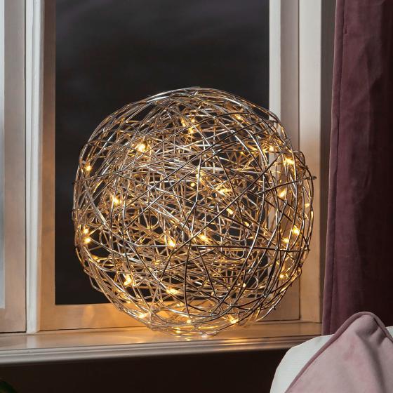 LED-Designkugel Trassel, 30 cm, Aluminium, silber | #2
