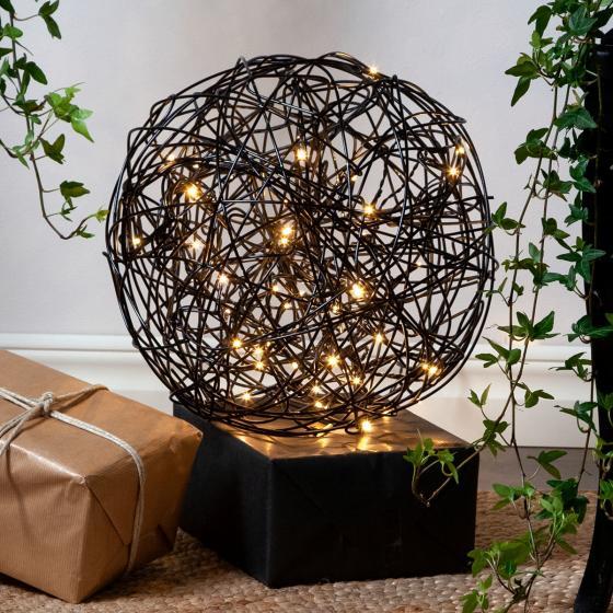 LED-Designkugel Galax, 30 cm, Aluminium, schwarz   #2