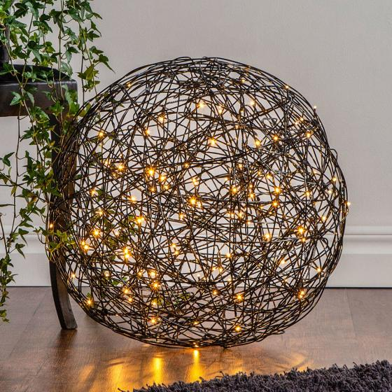 LED-Designkugel Galax, 50 cm, Aluminium, schwarz   #2