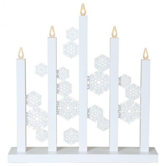 Star LED-Fensterleuchter Snowfall, 46x8x48cm, Holz, weiß   #2