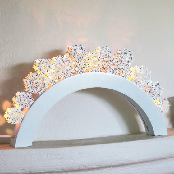 LED-Leuchtbogen Snowfall, 41x5x22cm, Holz, weiß   #2