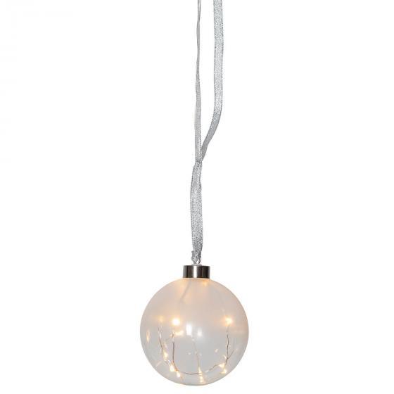 Star LED-Glaskugel White Glow, 10cm, Glas, frosted | #2