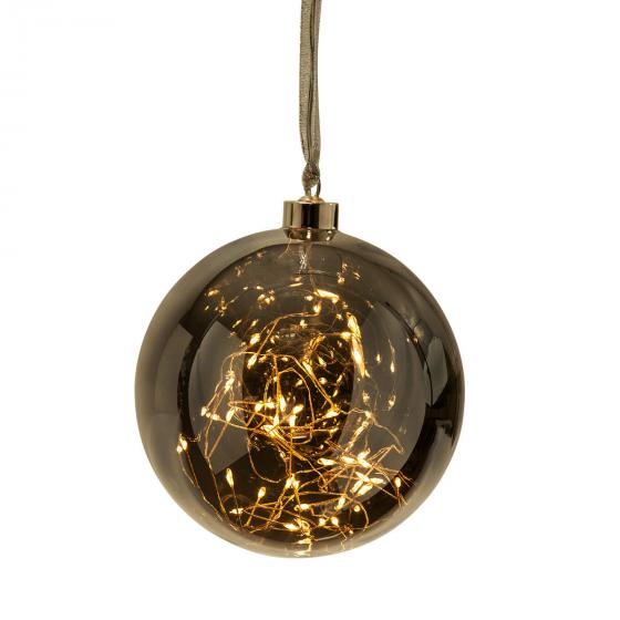 Star LED-Glaskugel Smoky Glow, 15cm, Glas, amber | #2