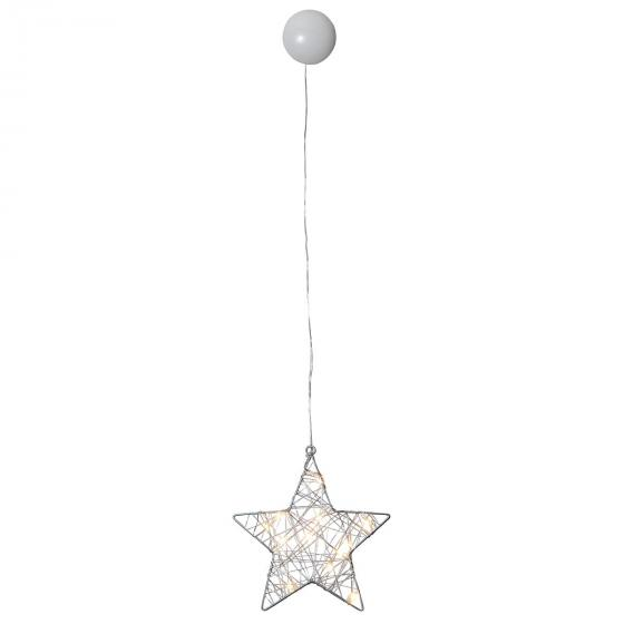 LED-Fensterdeko Wiry Stern, 21x20x2 cm, Metall, silber | #2