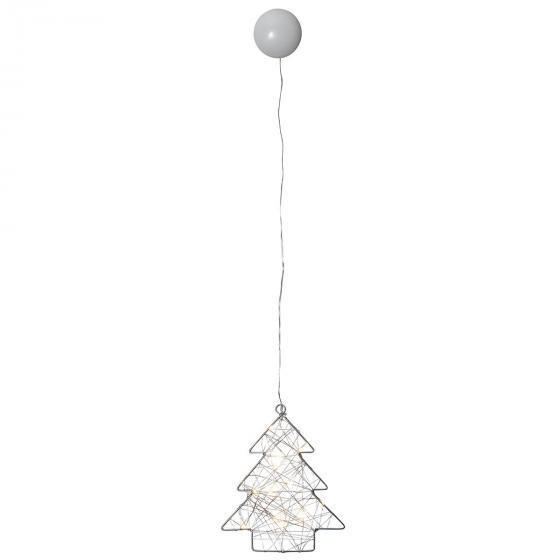 LED-Fensterdeko Wiry Tannenbaum, 202x17x2 cm, Metall, silber | #2