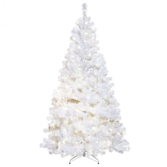 Star Künstlicher LED-Außen-Weihnachtsbaum Ottawa, 120x120x210cm, Kunststoff, weiß | #2