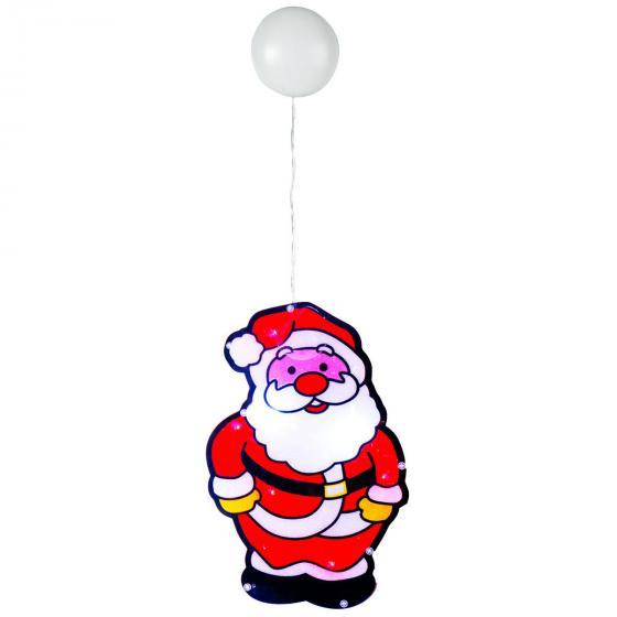 Star LED-Fenstersilhouette Santa, 27x17x0,5 cm, Kunstsoff, rot | #2