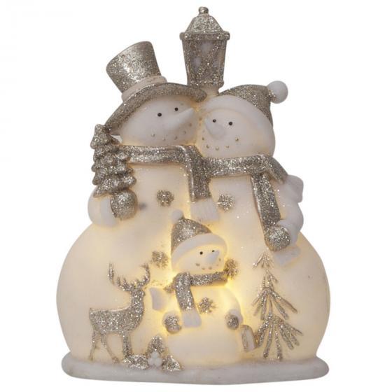 LED-Figur Buddy, 16x9x22cm, Kunststoff, weiß | #2