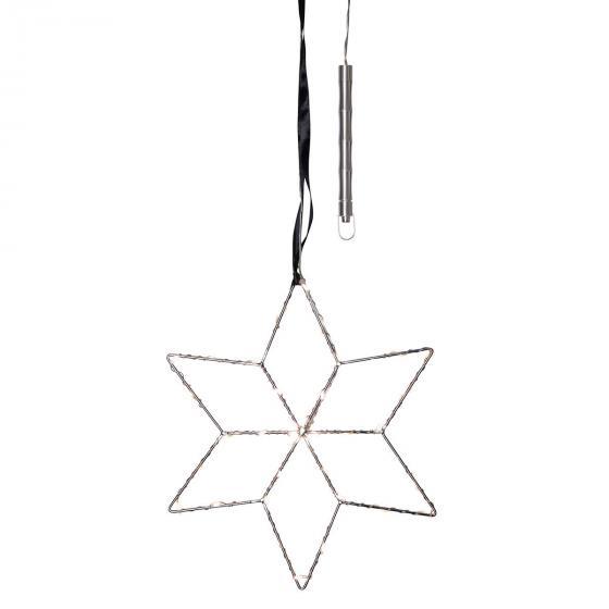 Star LED-Leuchstern Lolly, 28 cm, Metall, silber | #2