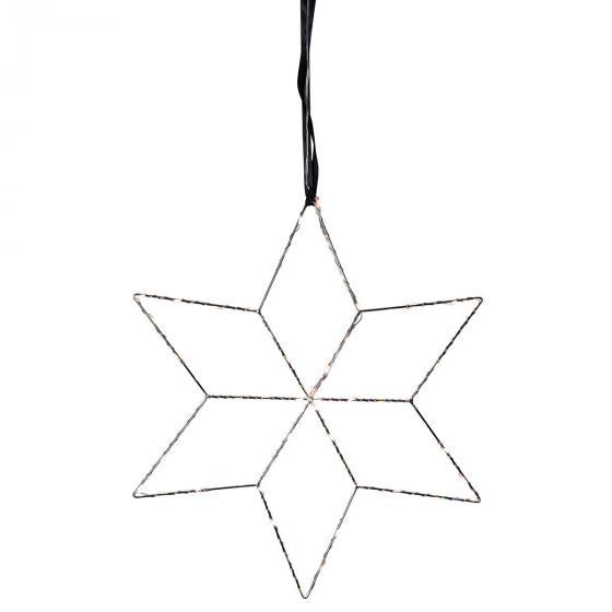 Star LED-Leuchstern Lolly, 45 cm, Metall, silber | #2