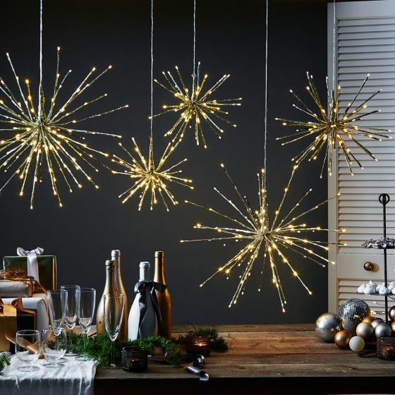 Star LED-Leuchtstern Winter-Feuerwerk, 40 cm, Metall und Kunststoff, gold | #2