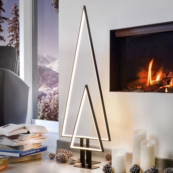 LED-Tischleuchte Pine, 10x50x10 cm, Aluminium, schwarz | #2