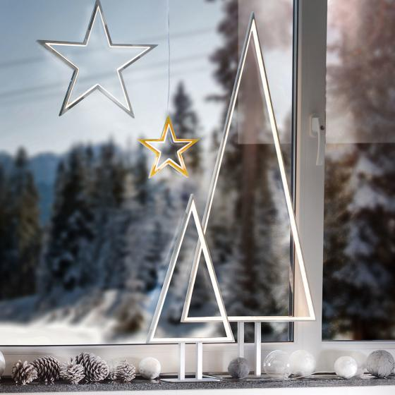 LED-Tischleuchte Pine, 50x25x8 cm, Aluminium, silber | #2