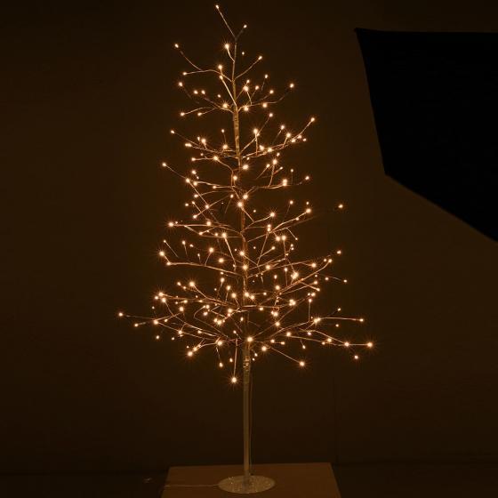 LED-Baum Goldy, 150cm, Metall, matt gold | #2