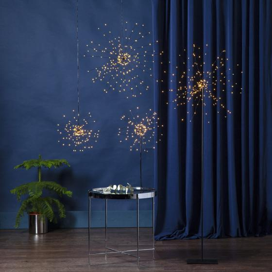 Star LED-Leuchtstern Firework, 50 cm, Metall, schwarz | #2