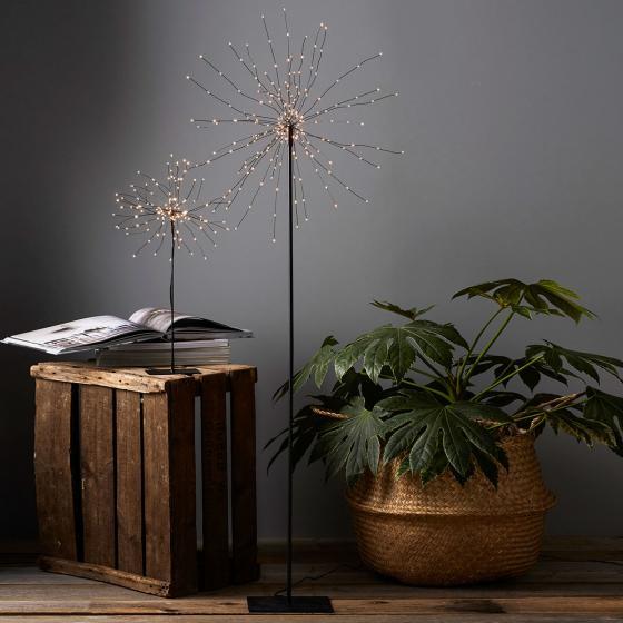 LED-Standleuchte Firework, 130x50x50 cm, Metall, schwarz | #2