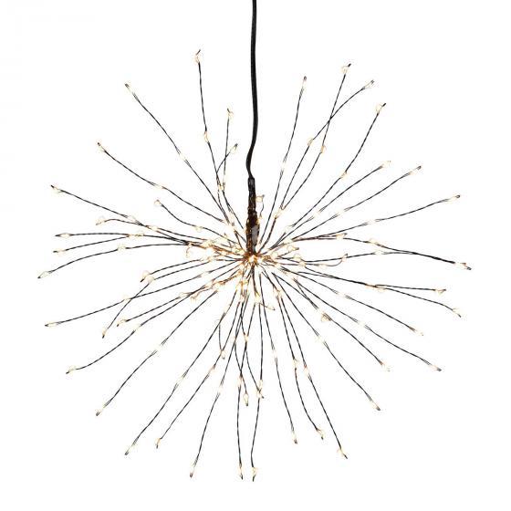 Star LED-Leuchtstern Firework, 26 cm, Metall, schwarz | #2