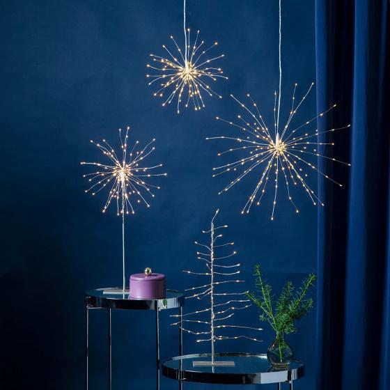 Star LED-Leuchtstern Firework, 45 cm, Metall, silber | #2