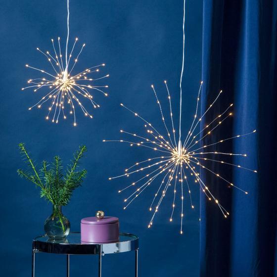 Star LED-Leuchtstern Firework, 26 cm, Metall, silber   #2