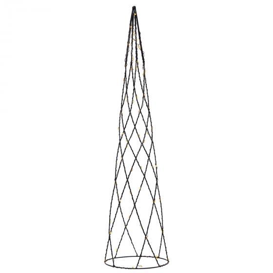 LED-Kegel Helix, 60x15x15 cm, Metall, schwarz | #2