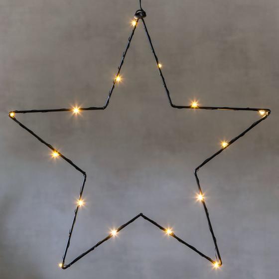 STAR LED-Leuchtstern Sparkling, 37cm, Metall, schwarz | #2
