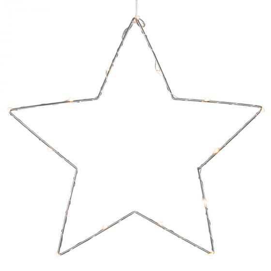 STAR LED-Leuchstern Sparkling, 37cm, Metall, chrom | #2