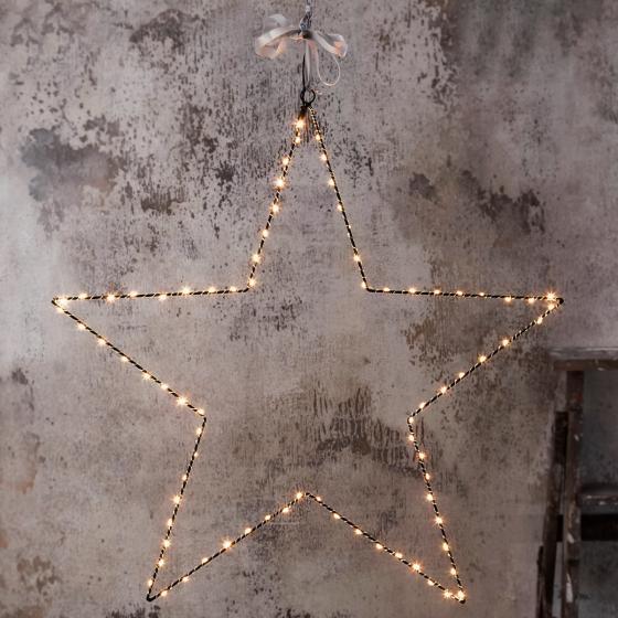 LED-Leuchtstern Mira, 70 cm, Metall, schwarz | #2