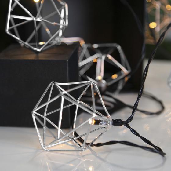 LED-Lichterkette Edge, 225 cm, Metall, silber   #2