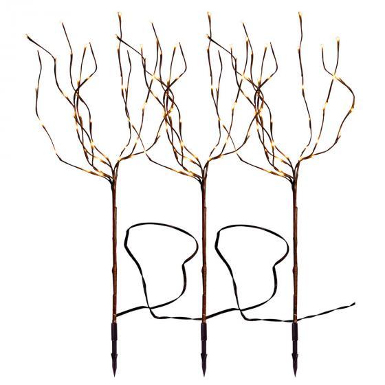 Star LED-Baum Tobby, 3er-Set, 90cm, Metall, braun | #2