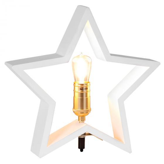 Star Holzstern Lysekil, 30x28x5 cm, Holz, weiß | #2